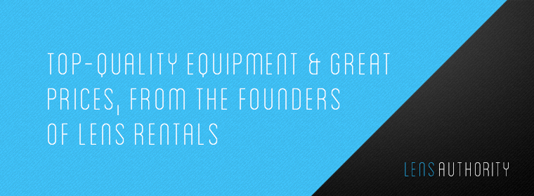 Top quality equipment and great prices, from the founders of Lens Rentals